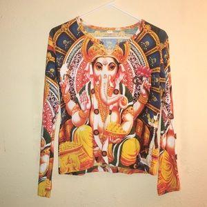 Ganesha Cotton Long Sleeve Top